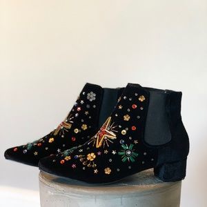 Betsy Johnson Jax Embellished Chelsea Boot